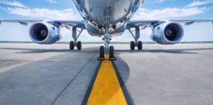 Samolot na lini startu