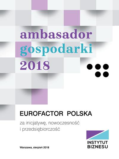 Eurofactor Polska - Ambasador gospodarki 2018